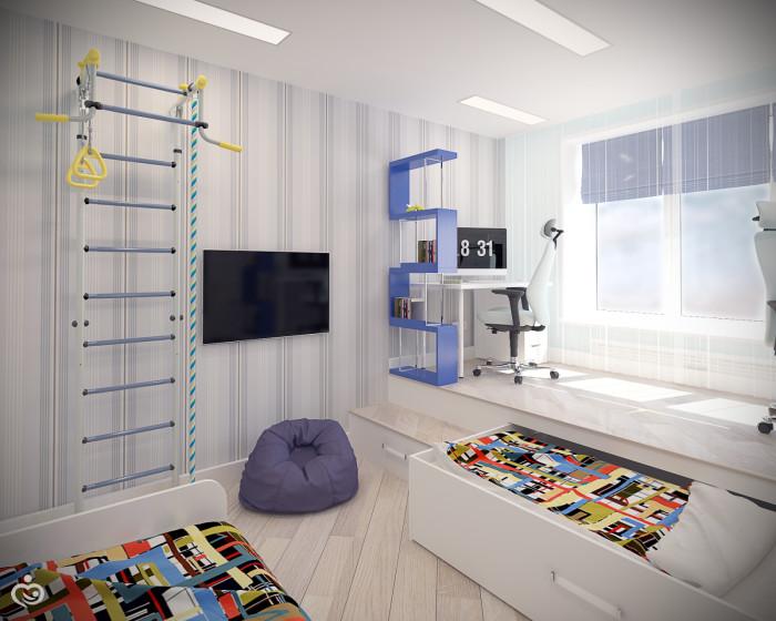 Дизайн комнаты 14 кв.м для ребенка