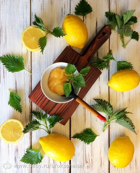 Мармелад из лимона и крапивы с мёдом