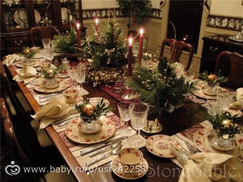 Сервировка новогоднего стола фото в домашних условиях 2016