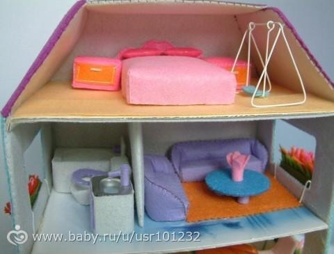 Как сделать домик книжку для кукол из коробки