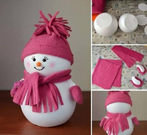 Как красиво сделать снеговика из бумаги