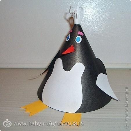 Поделка пингвин своими руками из бумаги