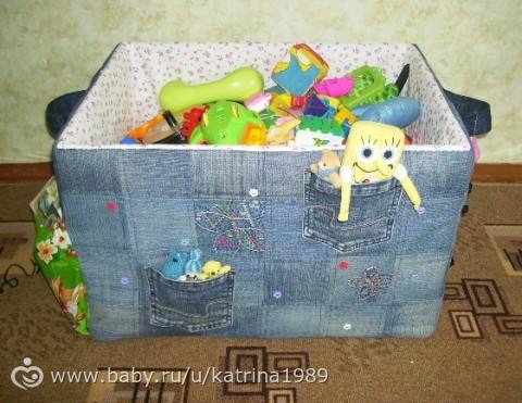 Коробки для игрушек своими руками с фото