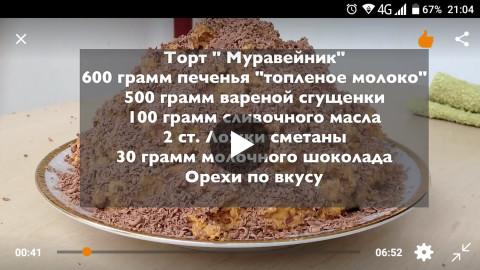 Рецепт муравейника пошаговое