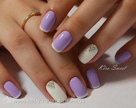 дизайн ногтей в фиолетовом цвете фото