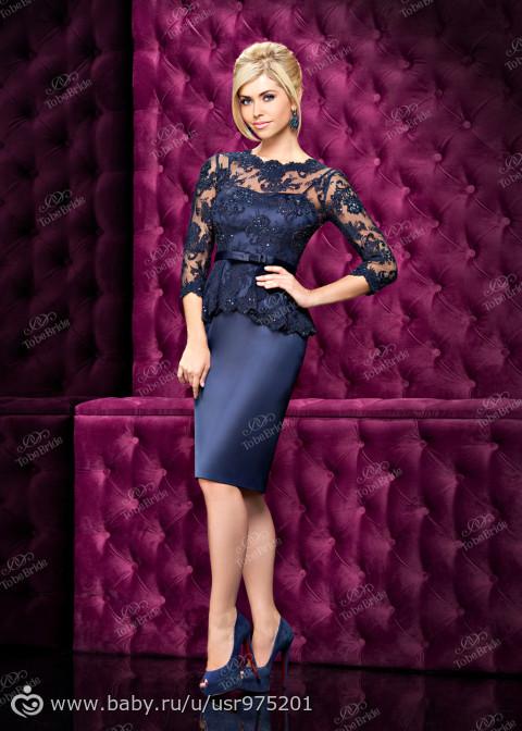Вечернее платье до колена