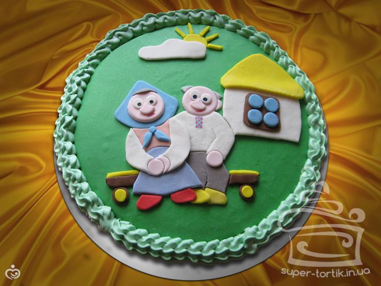 Торт из мастики для бабушки своими руками