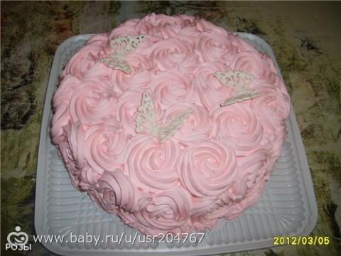 украшение торта сливочным кремом фото