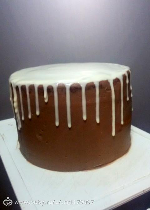 Подтеки на торте не из шоколада