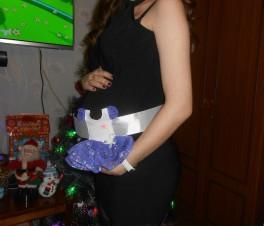 Первое платье нашей принцессы)))