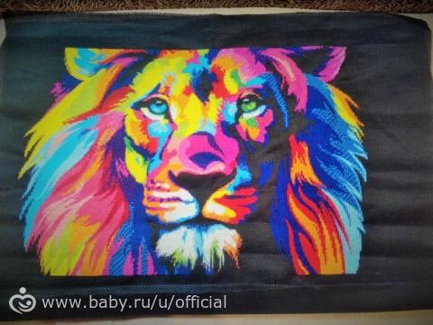 Вышивка крестом радужный лев схемы