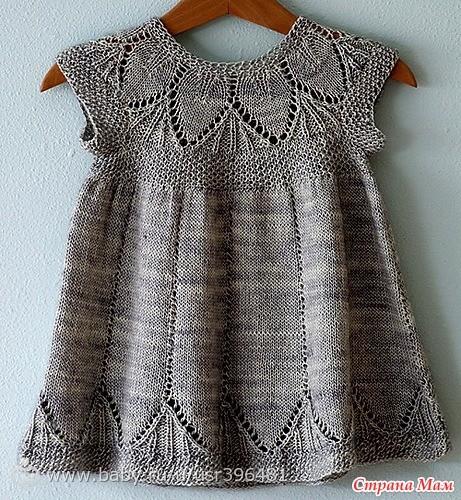 Купить вязанные детские платья