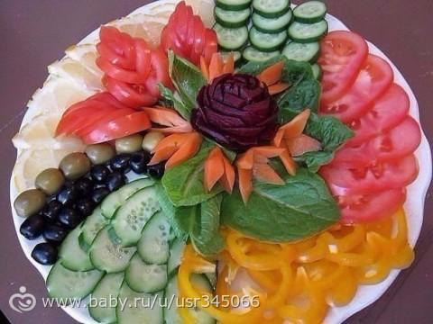 Фото красиво оформленных блюд салатов