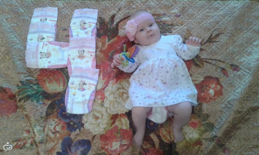 картинка 4 месяца девочке