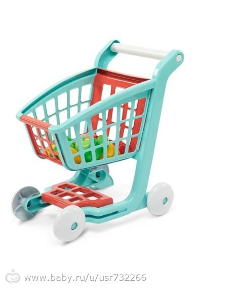 Игрушечная тележка для супермаркета.