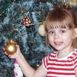 Наша красавица у елочки, в ожидании нового года!