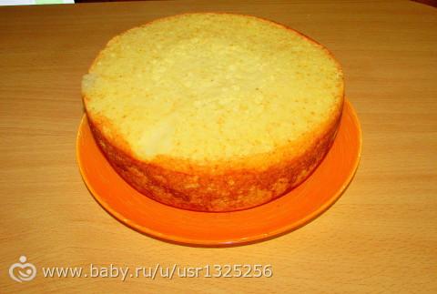 простой бисквитный корж рецепт с фото