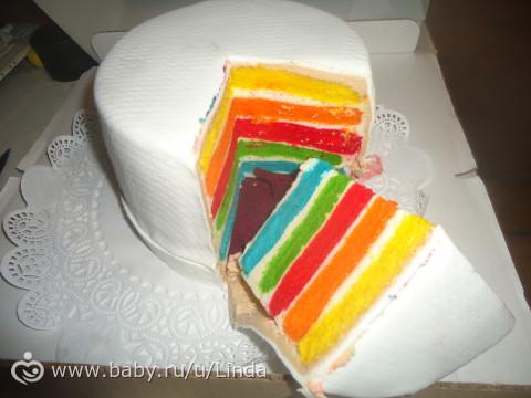 мой радужный тортик