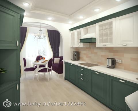 Кухня дизайн 16 кв м