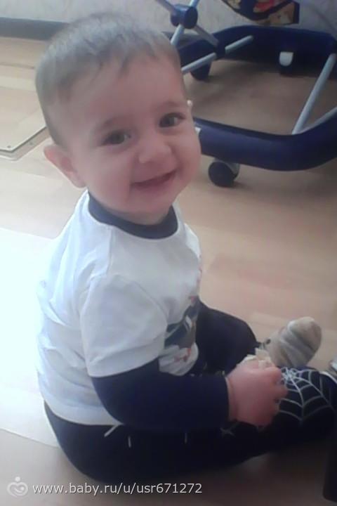 Моему сладкому сыночку 1 год