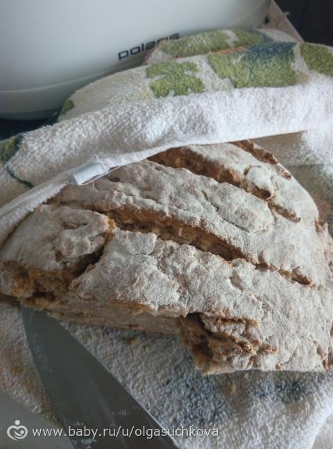Хлеб на бездрожжевой закваске в духовке