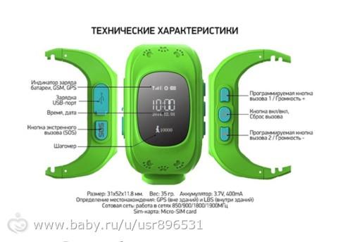 Умные часы с GPS-треккером для ребенка