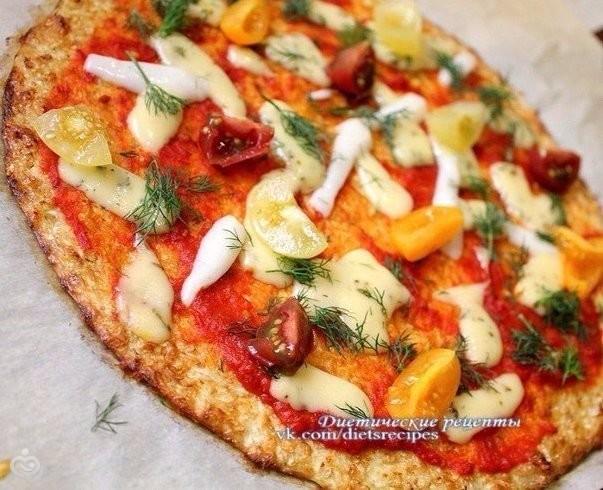 Пицца из цветной капусты рецепт с фото