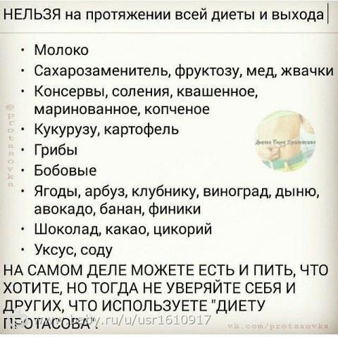 Диета Протасова Слабость.