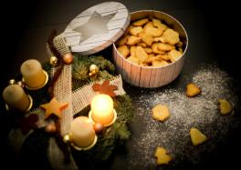Рождественские печеньки №2. Кокосовое печенье